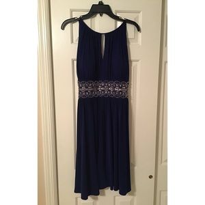 Navy blue dress with sequins